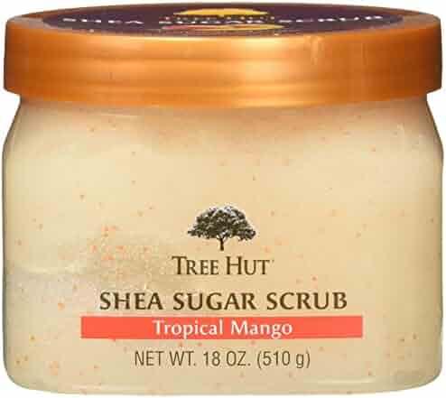 Tree Hut Shea Sugar Scrub, Tropical Mango, 18 Ounce