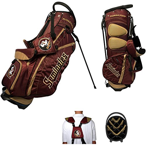 - Team Golf NCAA Florida State Seminoles Fairway Golf Stand Bag, Lightweight, 14-way Top, Spring Action Stand, Insulated Cooler Pocket, Padded Strap, Umbrella Holder & Removable Rain Hood