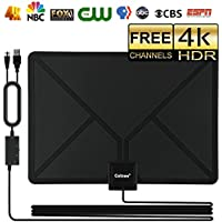 Skywire TV Antenna HD Digital, Indoor HDTV Digital Antenna Amplified 150 Mile Range Support 4K 1080P, with Advanced Amplifier Signal Booster and 16ft Coax Cable (black)