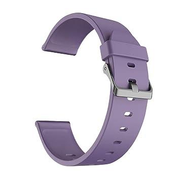 Chriffer Correa Reloj, 5 Colores Correa de Reloj TPU Silicona liberación rápida para Relojes y Smartwatch con Hebilla de Acero Inoxidable para Hombre ...