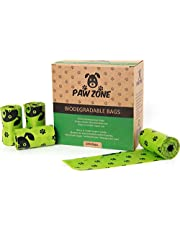 Paw Zone Biodegradable Dog Poo Bags - Large, Strong, Leak Proof Poop Bags- 240 Dog Waste Bags - 16 Rolls