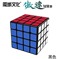MoYu AoSu WR M Magnetic Black 4x4x4 Speed Competition Magic Cube Puzzle Cube