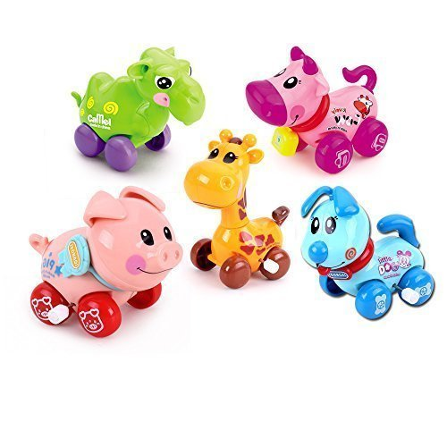 IQAngel®Wind-Up to Stocking Stuffers for Kids Animal for Kids, Baby and Toddler 5pc ?cow?pig?dog+ Camel+giraffe)NO-3 DEMIMA
