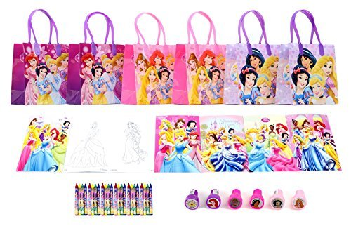 Disney Princess Party Favor Set - 6 Packs (42 Pcs)