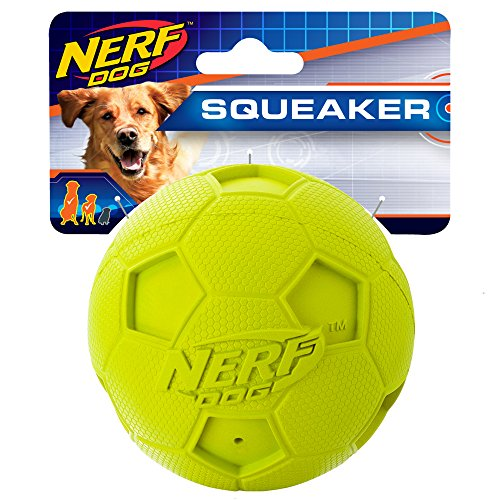 - Nerf Dog 4in Soccer Squeak Ball Green, Dog Toy