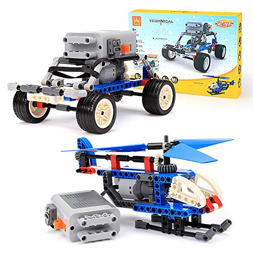 Building Bricks Toys Cars STEM - ROTERDON 216 PCS Building Blocks Sets 4 in 1 Racing Car Fun Building Street Sweeper Classic Bricks Birthday Gift Party Favors for Boys & Girls