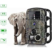Trail Camera, YKS 1080P HD Infrared Night Vision Wildlife Camera 12MP 65ft 120°Angle 42 Pcs IR LEDs 2.4 Inch LCD Screen Hunting Scouting Camera Waterproof IP66 Scouting Digital Camera Surveillance