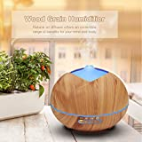 400ml Humidifier Ultrasonic Aroma Essential Oil Diffuser for Office Home Bedroom Living Room Study Yoga Spa - Wood Grain (Light wood grain)