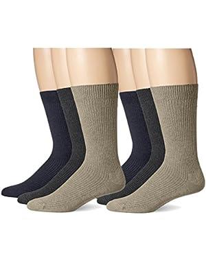 Men's Light Weight Crew Socks, 6 Pair
