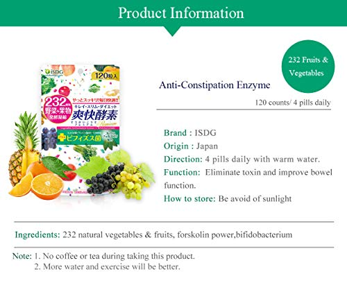 ISDG Enzima Anti-estreñimiento con 232 Vegetales y Frutas ...