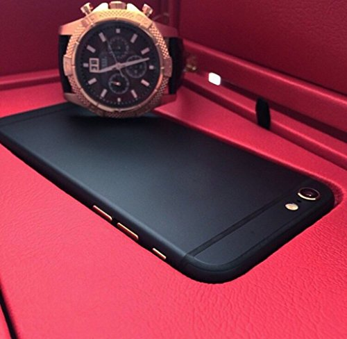 iPhone 6 Luxury Black Housing Replacement Eyoube Middle Frame Replacement with Gold Logo&Buttons (for iPhone 6)