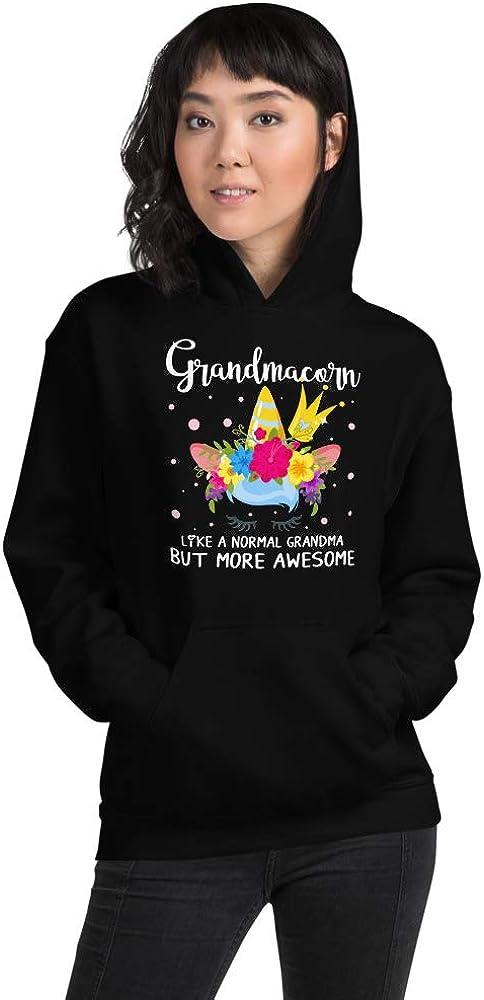 TEEPOMY Grandmacorn Like A Normal Grandma But More Awesome Funny Unisex Hoodie