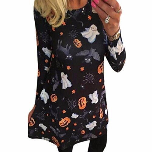 QIYUN.Z Halloween Robe Chauve-Souris Araignée Citrouille Fantôme Costumes Moulantes Des Femmes