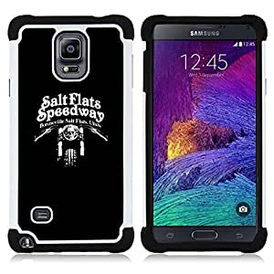 For Samsung Galaxy Note 4 SM-N910 N910 - SPEEDWAY MOTORCYCLE BLACK BIKER Dual Layer caso de Shell HUELGA Impacto pata de cabra con im??genes gr??ficas Steam - Funny Shop -