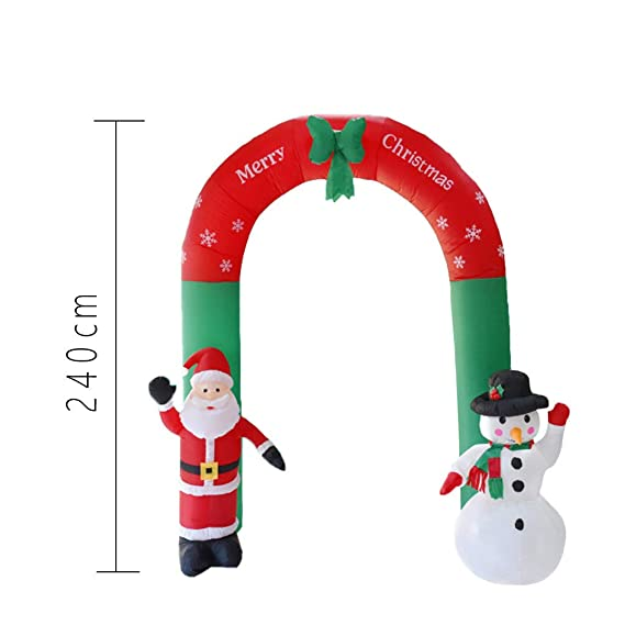 Amazon.com: Kiar - Arco hinchable de Papá Noel muñeco de ...