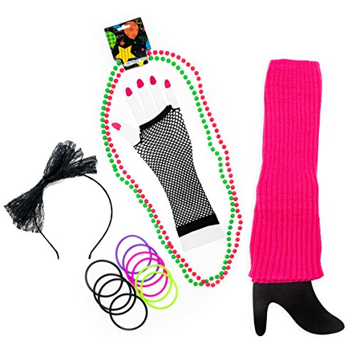 Zilo Novelties 80s Accessories for Women. The Perfect 80's Costume Outfit to Make You The Hit of The Party