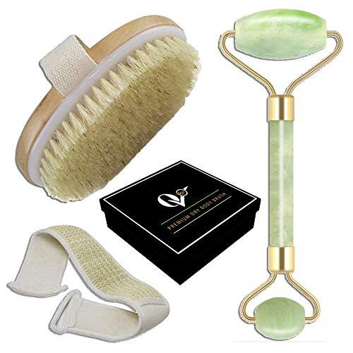 Jade Stone, Loofah Back Scrubber, Natural Fiber Body Brush...