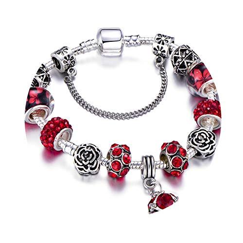 Charm Bracelet Silver Plated Hollow Murano Beads Fit New Original Pandora Bracelets for Women