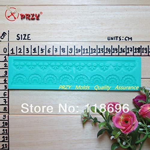 (1 piece Chocolate decoration silicone fondant tools Mould lace decoration cake pastry mould Lace Mold No.f04)