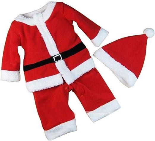 BESTOYARD Conjunto de Disfraz Papa Noel para Bebe Niño Niña Gorro ...