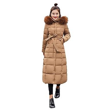 Damen Winterjacke Wintermantel Lange Daunenjacke Jacke Outwear