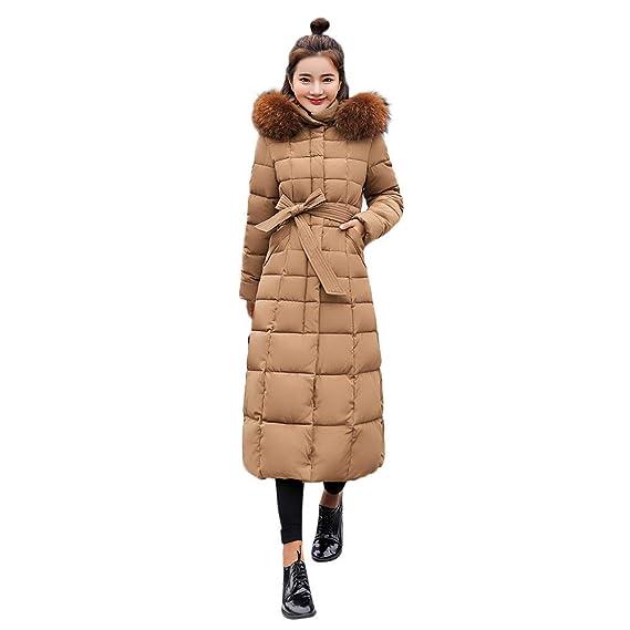 Damen Winterjacke Wintermantel Lange Daunenjacke Jacke