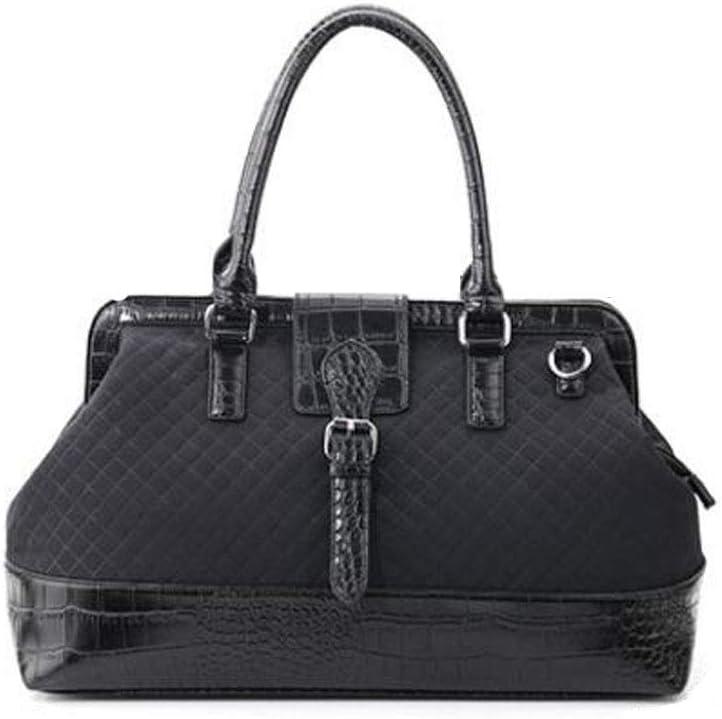 Female Hand-held Korean Version of Shoulder Bag Leather Large-Capacity Travel Bag Short-Distance Travel Fitness Bag Kaiyitong Sports Bag Black Size: 452128cm Color : Black
