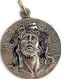 Ecce Homo Jesus Christ Crown of Thorns Pewter Medal, 1 1/2 Inch