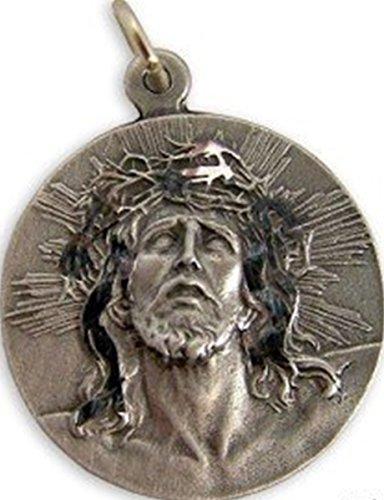 [Ecce Homo Jesus Christ Crown of Thorns Pewter Medal, 1 1/2 Inch] (Jesus Christ Medal)