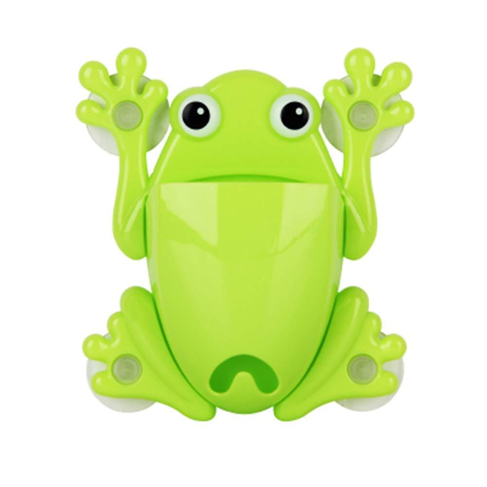 Ogquaton Porte-brosse /à dents Grenouille avec 4 ventouses Porte-ventouse mural pour grenouille Porte-ventouse /à monter et /à suspendre Durable et utile