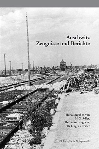 Auschwitz: Zeugnisse und Berichte. Mit einer Einführung zur 6. Auflage von Katharina Stengel Taschenbuch – 8. Dezember 2014 H. G. Adler Hermann Langbein Ella Lingens Reiner 3863930606