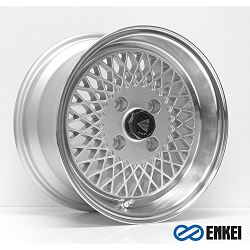 15×8 Enkei ENKEI92 (Silver w/ Machined Lip) Wheels/Rims 4×100 (465-580-4925SP)