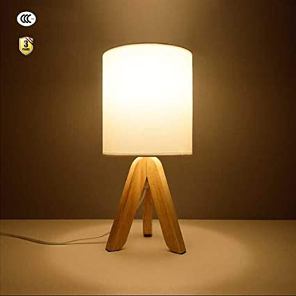 Lámparas de Mesa de Madera Lámpara Mesita de Noche Moderna ...