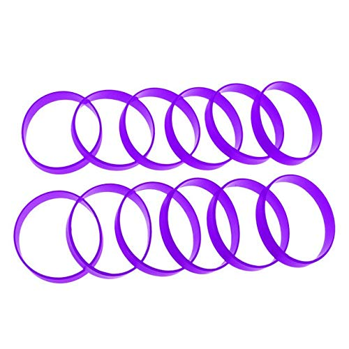 Sala-Fnt - 12Pcs/Pack Durable Basketball Energy Silicone Rubber Bangles Bracelets Power Wristband Team Sports Blank Wrist Bands Strap Cuff