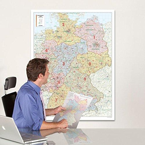Bacher Postleitzahlenkarte Deutschland 1 700 000 Poster Karte