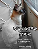 Colorful Cats Adult Grayscale Coloring Book