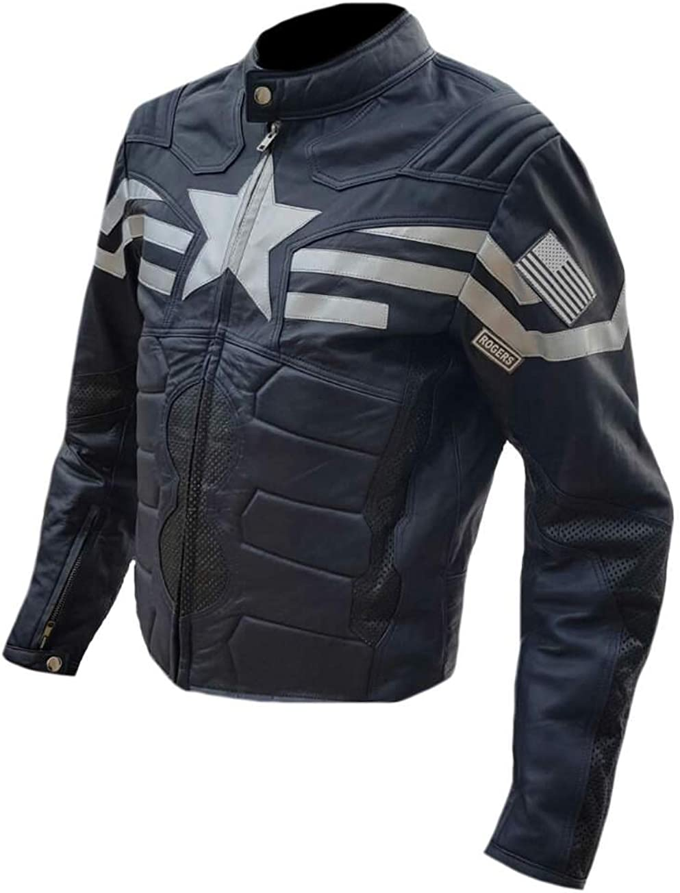 Stormwise Mens America Fashion Captain Winter Soldier Leather Jacket