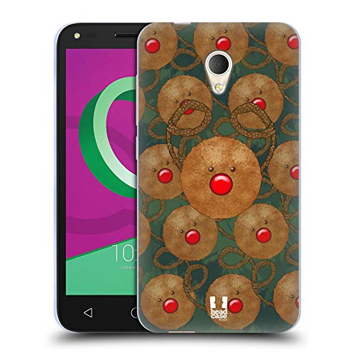 Head Case Designs Rudolph Cookies Mix Christmas Collection Soft Gel Case Alcatel U5 3G 4047D (Cookie Rudolph)