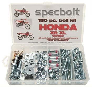 150pc Specbolt Honda XR XL four stroke Bolt Kit Maintenance & Restoration of Dirtbike OEM Fasteners XR50 XR80 XR100 XR185 XR200 XR250 XR400 XR500 XR600 XR650 and XR XL models 50 80 100 185 200 250 400 500 600 650