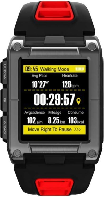 Lugang GPS De Gama Alta Inteligente Relojes, IP68 Control De Actividad con Monitor De Ritmo Cardíaco, Rastreador De Ejercicios con Varios Modos De Deporte, Incorporado 9-Eje Giroscopio