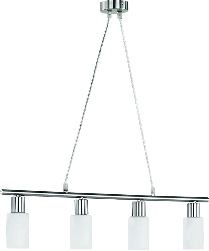 LED Pendelleuchte 4x4W Hell Kürzbar Neptun 2700k 70cm Nickel Matt / Glas  Opalfarbig Weiß: Amazon.de: Beleuchtung