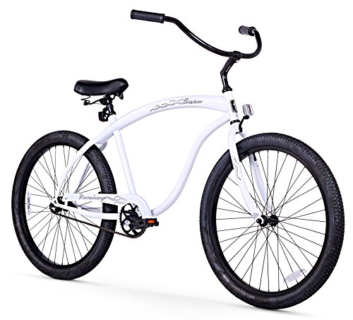 Bicycles Road Vintage (Firmstrong Bruiser Man Single Speed Beach Cruiser Bicycle, 26-Inch, White)