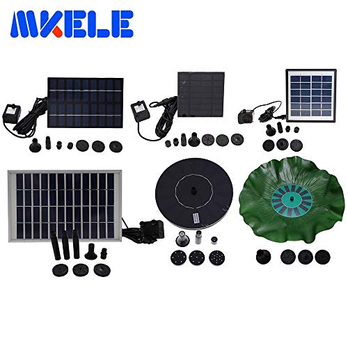Pumps, Parts & Accessories Small Solar Fountain Pump Yard Garden Landscape Pond Fish Pond Water Cycle Many Style - (Voltage: GY-D-005) (Filter Pond External Pressure)