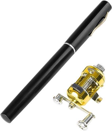 Reel Portable Mini Telescopic Pocket Fish Pen Aluminum Alloy Fishing Rod Pole