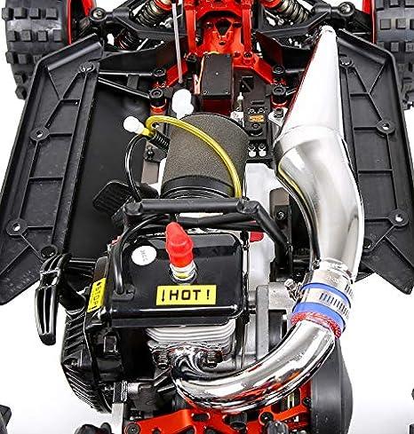 Monster Truck Coche Remoto por Todo Terreno Muzili-1:5 Motor de gasolina fijo de cuatro puntos, cuatro tiempos, refrigerado por aire, de 36 cc (carburador ...