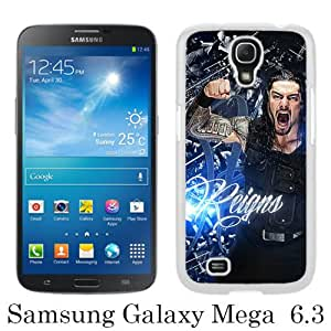 Great Quality Samsung Galaxy Mega 6.3 I9200 Case ,Wwe Superstars Collection Wwe 2k15 Roman Reigns 04 White Samsung Galaxy Mega 6.3 I9200 Cover Case Hot Sale Phone Case Unique And Beatiful Designed
