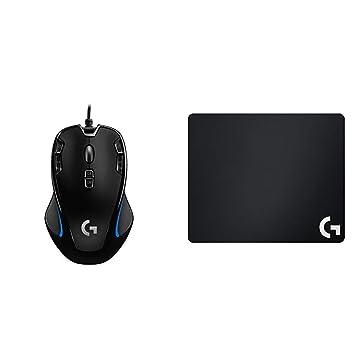Logitech G300s - Ratón óptico para juegos, Negro + G240 ...