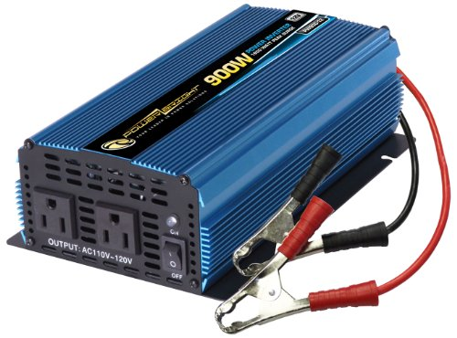 Power Bright PW900-12 Power Inverter 900 Watt 12 Volt DC To 110 Volt AC by PowerBright