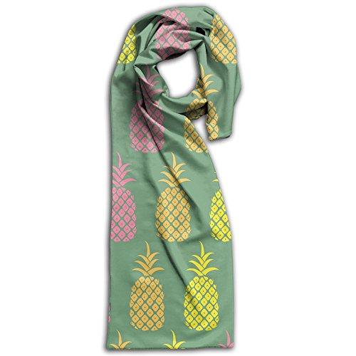 Pineapple Wallpaper Pattern Winter Scarves Lightweight Warm Towel Stylish Shawl Scarf - Size Guide Burberry