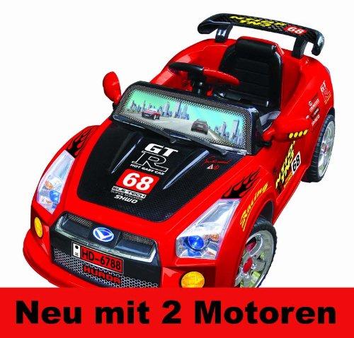 Elektro Kinderauto Elektroauto Sport Auto Wagen MP3 mit Fernbedienung (ROT)